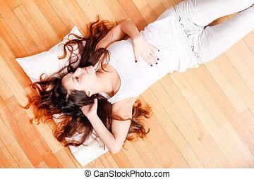 Relaxing on the floor
