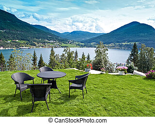 Relaxing Point in the norwegian fjords