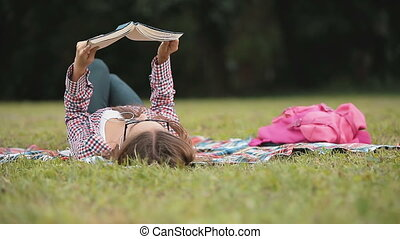 Relaxing Reading on Grass