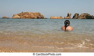 relaxing woman at a beach