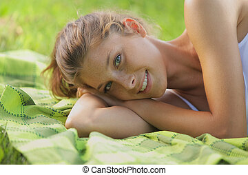 Relaxing woman