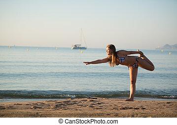 relaxing yoga girl