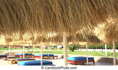Relaxing zone near swimming pool - Relaxing zone and chairs...