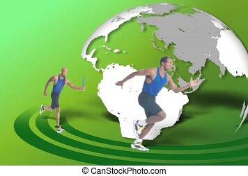 Relay Race Around The World