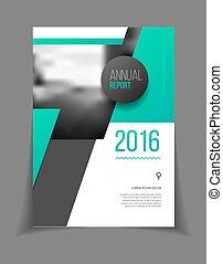 relazione, annuale, vettore, illustrazione