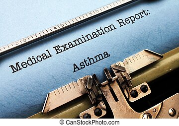 relazione,  -, medico, asma
