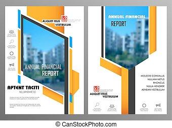 relazione, presentazione, annuale, disegno, sagoma