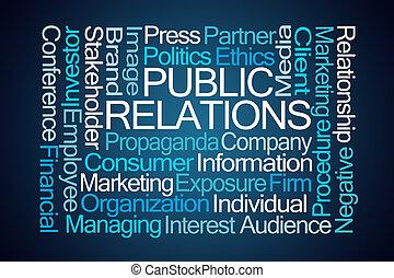 relazioni pubbliche, parola, nuvola
