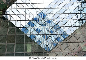 Relections of steel and glass