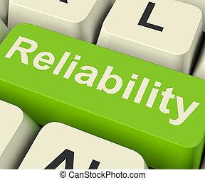 Reliability Computer Key Shows Certain Dependable Confidence