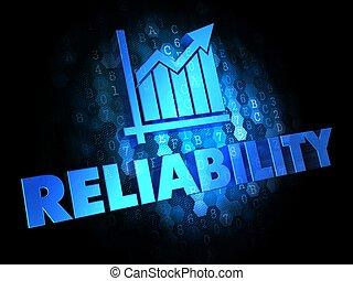 Reliability Concept on Dark Digital Background. - ...