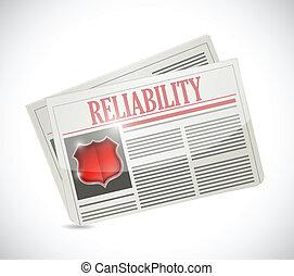 reliability newspaper illustration design