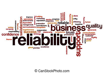 Reliability word cloud concept - Reliability word cloud