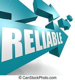 Reliable arrow blue image with hi-res rendered artwork that could be used for any graphic design.