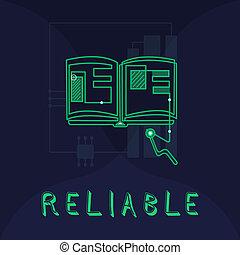 reliable., concepto, calidad, ser, texto, capaz, consistently, significado, bueno, escritura, perforanalysisce, o, trusted