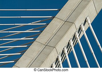 Reliable connection - Abstract image of cables of a bridge...