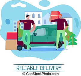 Reliable Delivery Concept - Reliable delivery service...