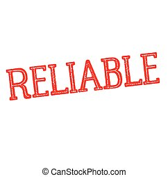 reliable rubber stamp black. Sign, label sticker