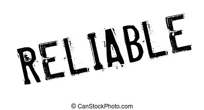 Reliable rubber stamp. Grunge design with dust scratches. ...
