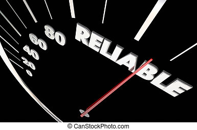 Reliable Trustworthy Believable Speedometer Measure Results 3d Illustration