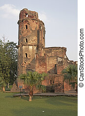 Old British Residency in Lucknow India. Derelict building which subject of a siege in the Indian Mutiny of 1857.