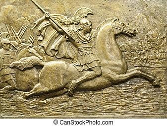 Alexander the Great - Relief depicting Alexander the Great...