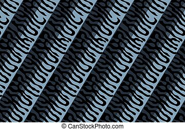 Relief mackerel scale. Vector seamless animal pattern.