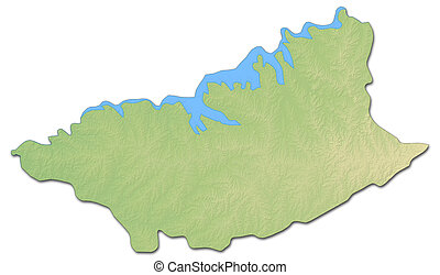 Clip Art Of Uruguay Shaded Relief Map Uruguay Shaded Relief - Uruguay relief map