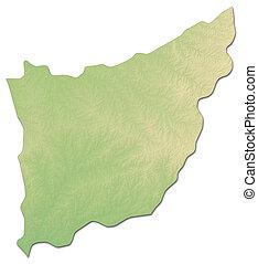 Relief map - Florida (Uruguay) - 3D-Rendering