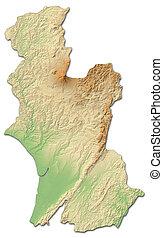 Relief map - Hawke's Bay (New Zealand) - 3D-Rendering - ...