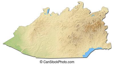 Relief map - Karagandy (Kazakhstan) - 3D-Rendering