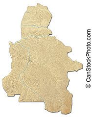 Relief map - Kasai-Occidental (Democratic Republic of the ...