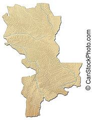 Relief map - Kasai-Oriental (Democratic Republic of the ...