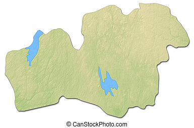 Stock Illustration Of Relief Map Zagreb County Croatia D - Sweden map counties