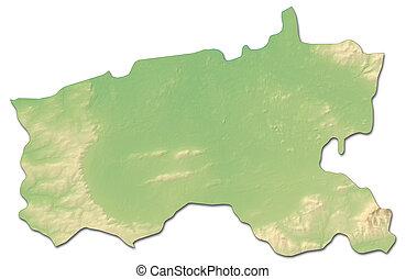 Relief map - Limerick (Ireland) - 3D-Rendering