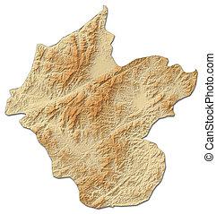 Relief map - Luang Namtha (Laos) - 3D-Rendering