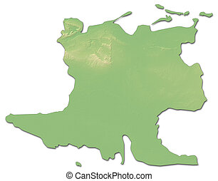 Cuba relief map Highly detailed physical map of cuba with stock