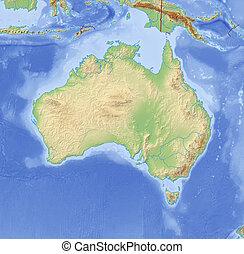 Relief Map of Australia - 3D-Rendering