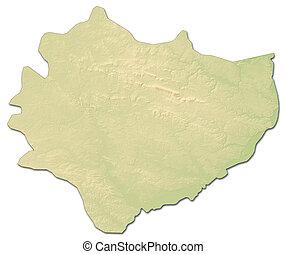Relief map - Swietokrzyskie (Poland) - 3D-Rendering