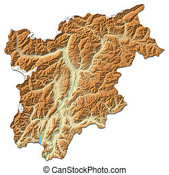 Map Of Italy Trentino Alto Adige Suedtirol Highlighted