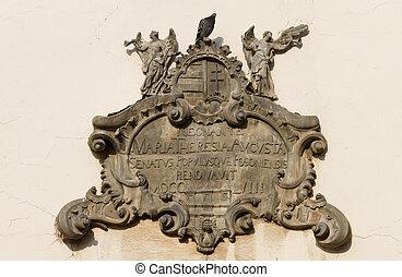 Relief over Michael's Gate, Bratislava, Slovakia