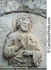 Relief, St. Peter, St. Peter church Korcula, Croatia