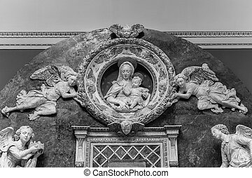Relief Virgin Mary mother of God