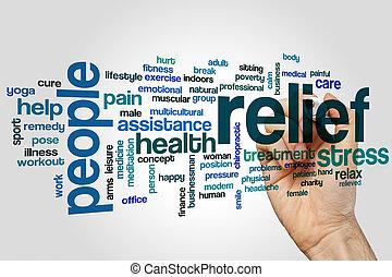 Relief word cloud concept - Relief word cloud