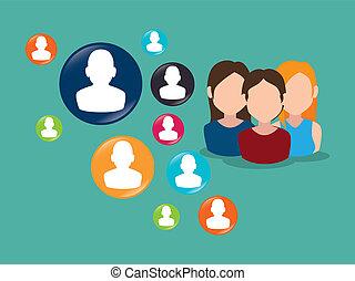 relier, communauté, gens