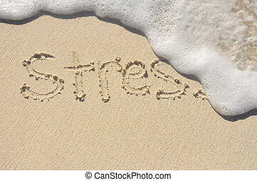 Stress Being Washed Away - Relieving Stress, the Word Stress...