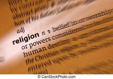 religión,  -, diccionario, definición