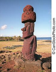 religión, escultura, isla de pascua