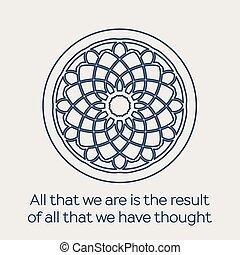 religieus, vector, ornament, circulaire