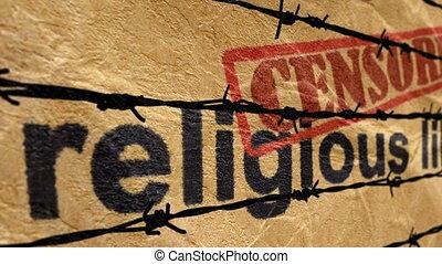 religieux, censuré, liberté